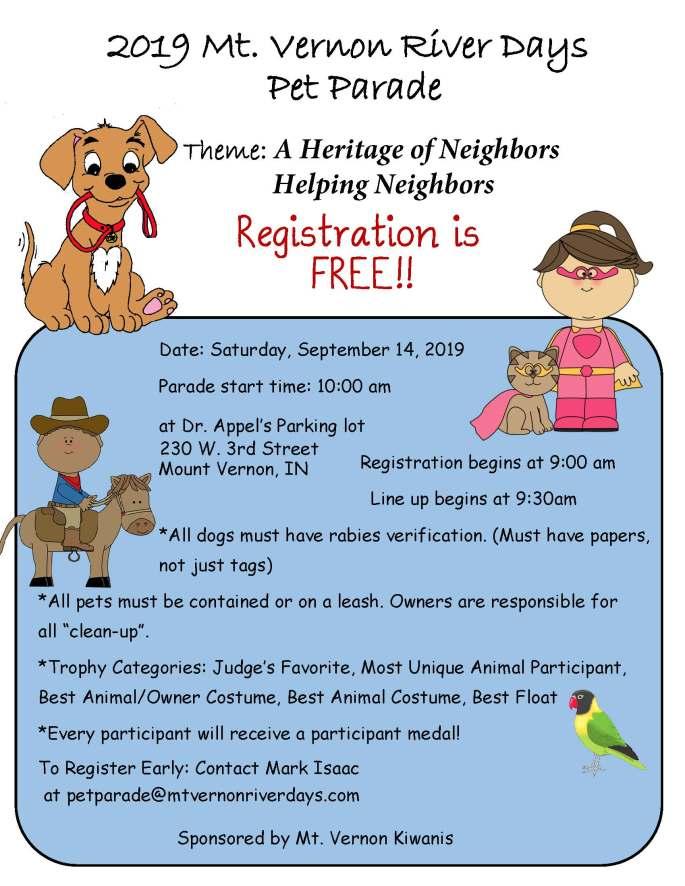 2019 River Days Pet Parade Flyer